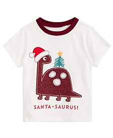 bea8fa37d9f First Impressions Toddler Boys Santa-Saurus Cotton T-Shirt