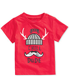 First Impressions Toddler Boys Dude-Print Cotton T-Shirt, Created for Macy's