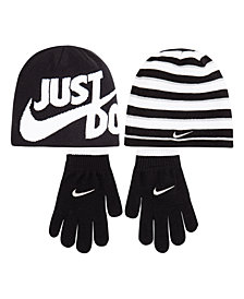 Nike Big Boys 2-Pc. Reversible Beanie Hat & Gloves Set