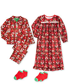 Minnie Mouse Toddler, Little & Big Girls Printed Nightgown	& Mickey Mouse Toddler, Little & Big Boys 2-Pc. Pajama Set