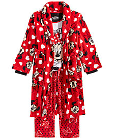 Minnie Mouse Little & Big Girls 3-Pc. Robe, Top & Pants Pajama Set