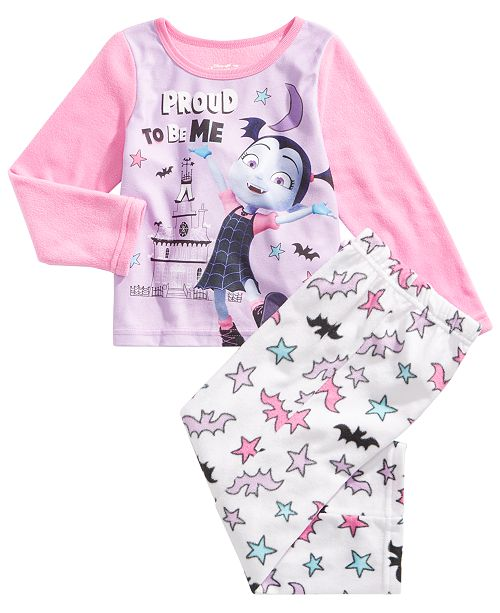 Vampirina Little Girls 2-Pc. Fleece Pajama Set - Pajamas - Kids - Macy s e276605f9