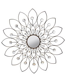 Stratton Home Decor Decorative Flower Mirror