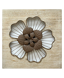 Stratton Home Decor Rustic Flower Wall Decor II