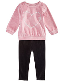 First Impressions Baby Girls Velour Tunic & Leggings Separates, Created for Macy's