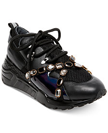 Steve Madden Women's Credit Jeweled Sneakers