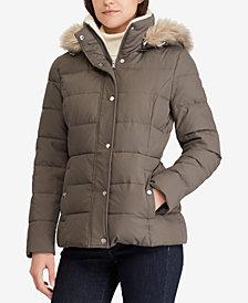 Lauren Ralph Lauren Faux-Fur Quilted Down Coat