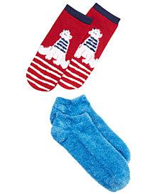 HUE® 2-Pk. Footsie Socks Gift Box