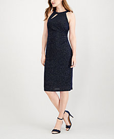 MSK Glitter Sheath Dress