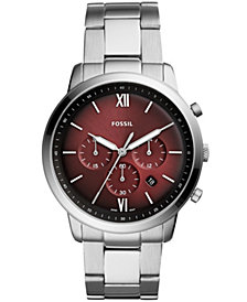 Fossil Men's Chronograph Neutra Stainless Steel Bracelet Watch 44mm