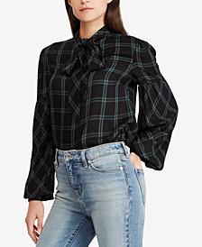 Lauren Ralph Lauren Necktie Plaid Twill Shirt