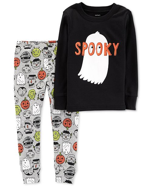 e73971fd3 Carter's Baby Boys 2-Pc. Halloween Spooky Cotton Snug-Fit Pajamas ...