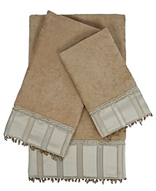 Cromwell 3-piece Embellished Towel Set