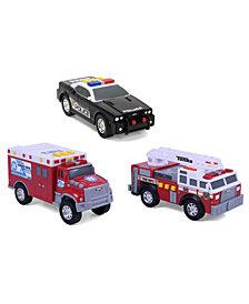 Funrise Toys - Tonka Mini 3 Pack, Fire Engine, Police Cruiser, Ambulance