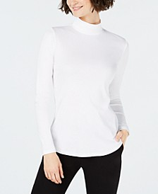 Cotton Mock-Neck Top, Created for Macy's