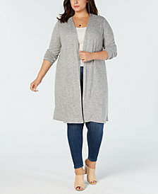 BCX Trendy Plus Size Open-Front Cardigan