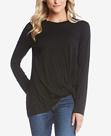 Karen Kane Twist-Hem Long-Sleeve Top