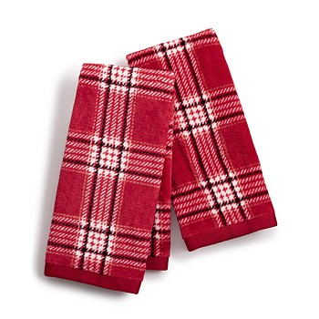 Martha Stewart Collection Cotton Plaid 2-Pc. Fingertip Towel Set