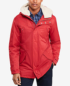 Brooks Brothers Men's Fleece-Lined Hooded Parka