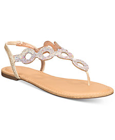 Material Girl Sailor Flat Sandals, Created for Macy's