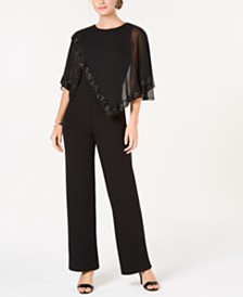 Ivanka Trump Sequined Cape Jumpsuit