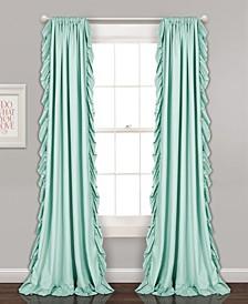 """Reyna Ruffle 54"""" x 84"""" Curtain Set"""