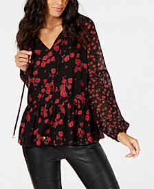 MICHAEL Michael Kors Floral-Print Top in Regular & Petite Sizes