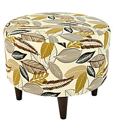 This ottoman features a wooden frame covered with a chic, stylish fabric that will stand out in your home