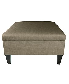 MJL Furniture Designs Manhattan Upholstered Square Storage Ottoman