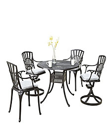 Monarch Rectangular Dining Table and Six Double X-back Chairs