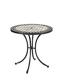 Home Styles Marble Top Round Outdoor Dining Table