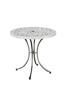 Home Styles Capri Concrete Stenciled Round Outdoor Table