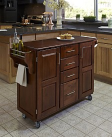 Home Styles Create-A-Cart Cherry Finish with Cherry Top