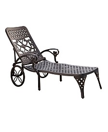 Home Styles Biscayne Black Chaise Lounge Chair