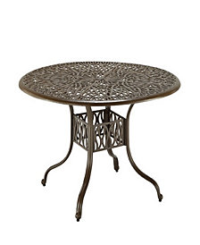 """Home Styles Floral Blossom Taupe 48"""" Round Dining Table"""