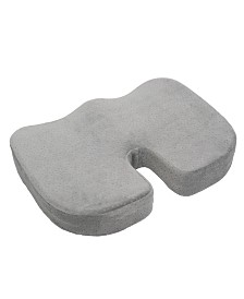 Aurora Gray Memory Foam With Cooling Gel Coccyx Seat Cushion
