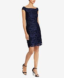 Lauren Ralph Lauren Floral-Lace Dress