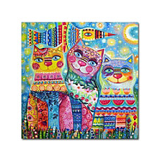 Oxana Ziaka 'Deco Cats' Canvas Art Collection