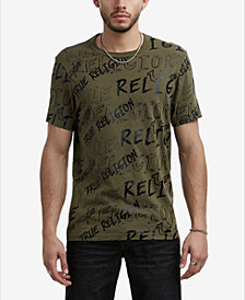 True Religion Men's Logo Mania T-Shirt