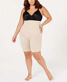 Miraclesuit Women's Plus Size Extra Firm Flexible-Fit High Waist Thigh Slimmer 2939