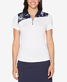 Callaway Printed Zip Golf Polo