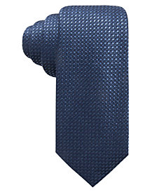 Alfani Men's Neat Slim Silk Tie, Created for Macy's