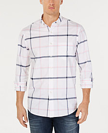 Club Room Men's Windowpane Plaid Pocket Shirt, Created for Macy's