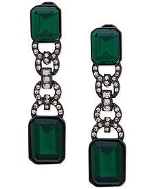 Lauren Ralph Lauren Pavé & Stone Clip-On Linear Drop Earrings
