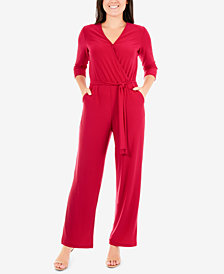 NY Collection Petite Wrap Jumpsuit