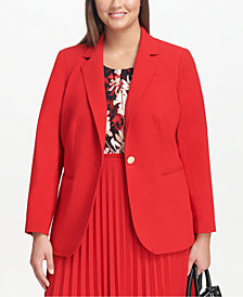 Calvin Klein Plus Size Single-Button Blazer