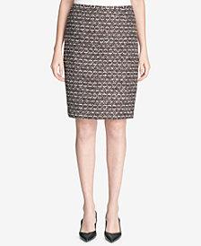 Calvin Klein Petite Tweed Pencil Skirt