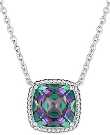"""Mystic Topaz Rope-Frame 16"""" Pendant Necklace (4 ct. t.w.) in Sterling Silver"""