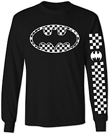 Batman Checkerboard Men's Graphic Long-Sleeve Shirt