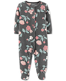 Carter's Baby Girls Floral-Print Footed Coverall